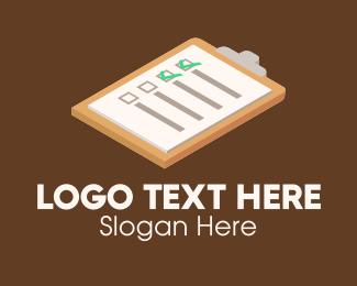 Management - Checklist Clipboard logo design
