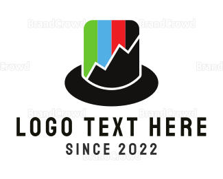 Fedora - Top Hat Chart logo design