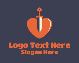 Actor - Sword Heart logo design