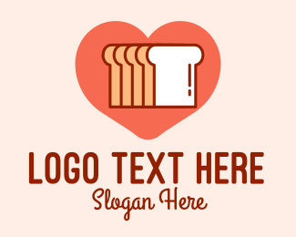 Bread Basket - Bread Heart  logo design
