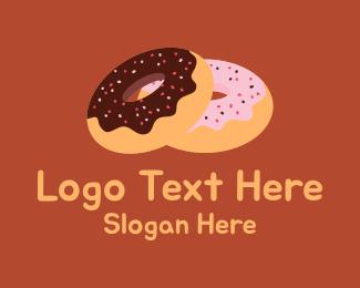 Doughnut Shop - Sprinkled Donuts logo design