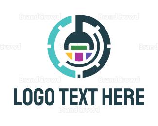 Website - Abstract Gear logo design