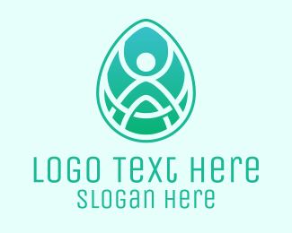 Extraterrestrial - Oval Wellness Spa logo design
