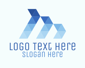 Three - Triangle Waves logo design