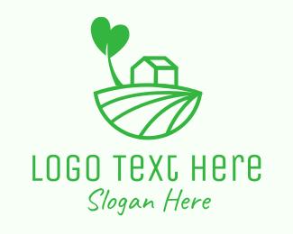 Rice Field - Organic Farm Field logo design