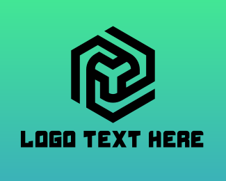 Black Hexagon - Rotary Blade Gaming logo design