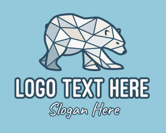 Cooling - Ice Polar Bear logo design