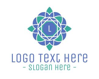 Lantern - Blue Geometric Lettermark logo design