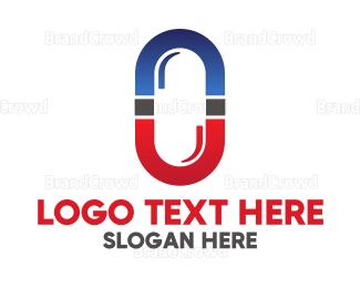 Bio Tech - Red Blue Capsule logo design