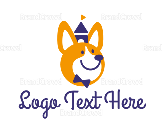 Kids - Smiley Corgi logo design