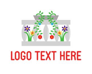 Gnome - Balcony Flowers logo design
