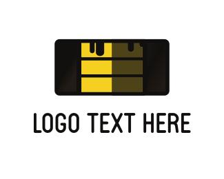 Banana - Cake Slice logo design