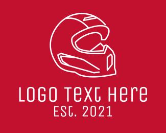 Driver - Motorcycle Rider Helmet logo design