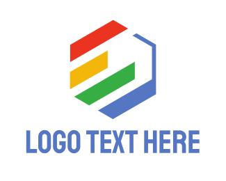 Stripes - Hexagon Statistics  logo design