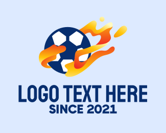 Soccer - Soccer Ball Flames logo design