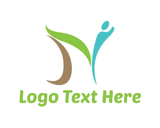 Herbal - Abstract Letter N logo design