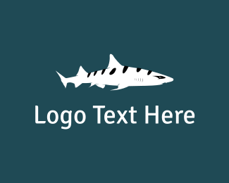 Shark - Stripe Shark logo design