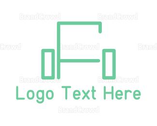 Comfortable - Green Sofa Lines logo design