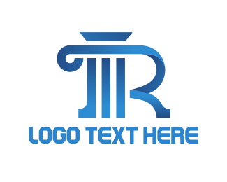 Attorney - Column Letter R logo design