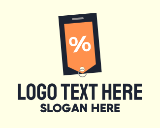 Slip - Mobile Shopping Discount Tag logo design
