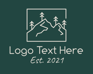 Explore - Minimalist Mountain Peak  logo design