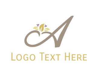High Tea - Blooming Letter A logo design