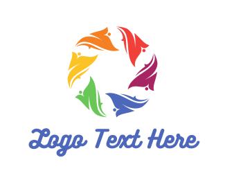 Lens - Floral Circle logo design