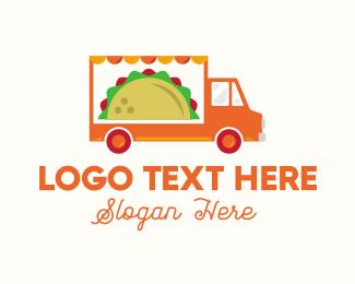 Mexican Taco Food Truck Logo