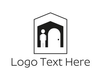 Gate - Black House logo design