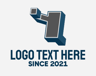Blocky - 3D Graffiti Letter Y logo design