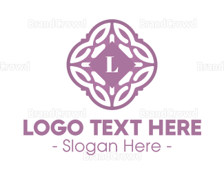 Cultural - Floral Lilac Lettermark logo design