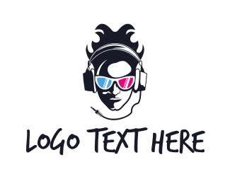 Headset - Summer DJ logo design