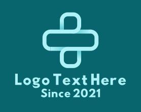 Gradient Outline Medical Cross  Logo