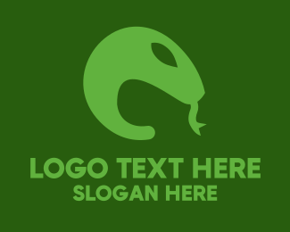 Tongue - Green Snake Tongue logo design