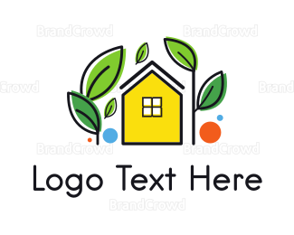 Gardener - Garden Yellow House logo design