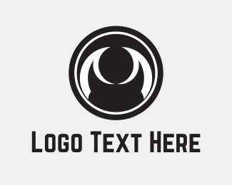 Dark - Abstract Black Eye logo design