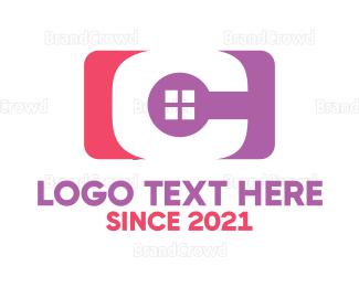 Window - Red Purple C Window logo design