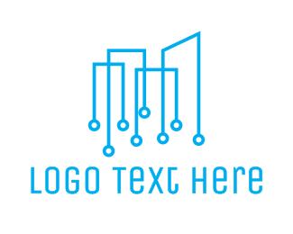 Blue Note - Modern Musical Notes logo design
