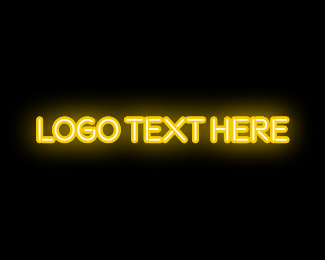 Las Vegas - Neon Yellow logo design
