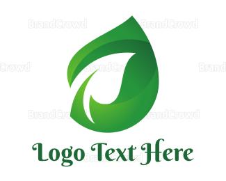 Organic Food - Green Shade Leaf logo design