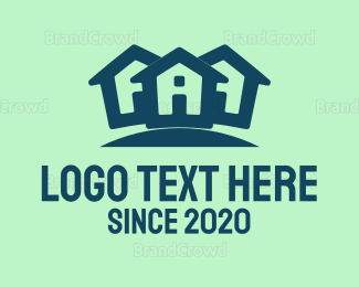 Neighborhood - Blue House logo design