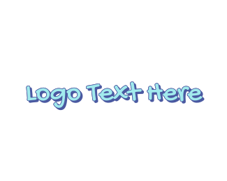 Blue Boy - Blue Cute Handwriting logo design