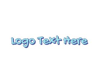Learning Center - Blue Cute Handwriting logo design