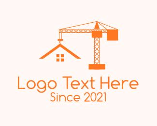 Crane - Orange Crane Contractor logo design