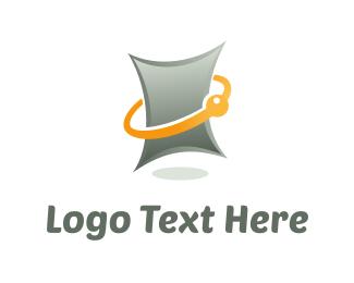 Atomic - Digital Tablet logo design