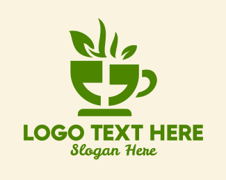 Hot Coffee - Tea Cup Quote logo design