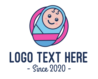 Pregnancy - Baby Swaddle Circle logo design