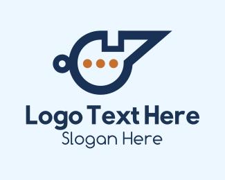 Whistle - Chat Whistle logo design