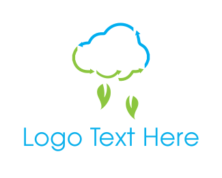 Weather - Leaf Rain logo design