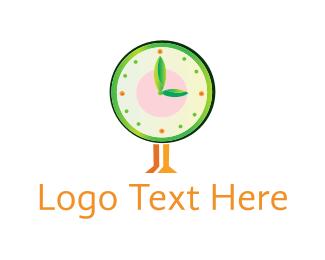 Eco - Eco Clock logo design